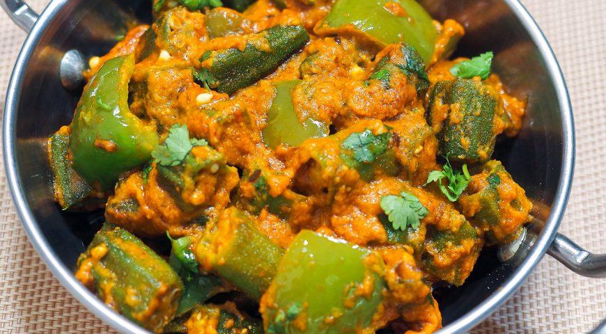 recipe of veg   kadai bhindi   kadai vendakkai