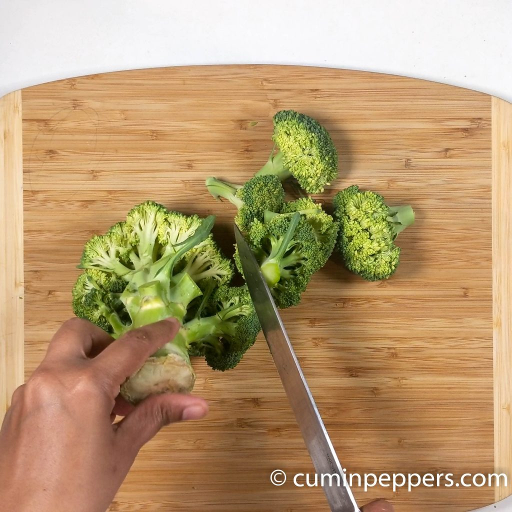 broccoli stalk chutney   broccoli stem chutney